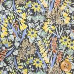 ショッピングプリント リバティプリント タナローン490『Beatrice ビアトリス』イエロー&ライトブルー(DC28686/J16C)