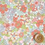 リバティプリント タナローン505『Flower Tops フラワー・トップス』ペール(17-3637188/17B)