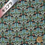 ショッピングプリント リバティプリント(ベンベルグ裏地/キュプラ)『Strawberry Feast ストロベリー・フィースト』ネイビー&ライトブルー(17-3637189/J18A)