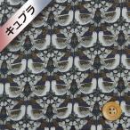 ショッピングプリント リバティプリント(ベンベルグ裏地/キュプラ)『Strawberry Feast ストロベリー・フィースト』ダークネイビー&ブラウン(17-3637189/J18C)