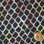 ショッピングプリント リバティプリント タナローン526『Ombre Tiles オンブレ・タイルズ』イエロー&ブラック(3636273/16A)