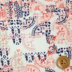 ショッピングプリント リバティプリント タナローン527『Mosaic Lace モザイク・レース』ピンク&オレンジ(3636276/16C)