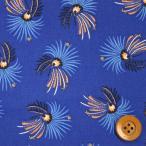 ショッピングプリント リバティプリント タナローン532『Firework Floral ファイヤーワーク・フローラル』ロイヤルブルー(3636283/16B)