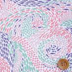 リバティプリント タナローン585『Shoals ショールズ』レッドピンク&バイオレット(3637169/17B)