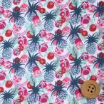ショッピングプリント リバティプリント タナローン593『Ibiza Berry イビザ・ベリー』グレー&レッド(3637178/17B)