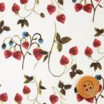ショッピングリバティ リバティプリント タナローン633『Strawberry Fields ストロベリー・フィールズ』オフホワイト&レッド(3637254)