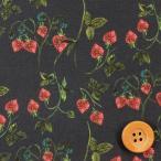ショッピングリバティ リバティプリント タナローン633『Strawberry Fields ストロベリー・フィールズ』ブラック(3637254)