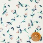 リバティプリント タナローン654『Floating Flora フローティング・フローラ』ライトブルー&グリーン(3637164/17A)