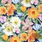 ショッピングプリント リバティプリント タナローン667『Meadow Melody Small メドウ・メロディ・スモール』ネイビー地(18-3638112/18CT)