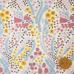 ショッピングプリント リバティプリント タナローン673『Bell Flower ベル・フラワー』パープル&ライトブルー(18-3638129/18AT)