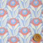 ショッピングプリント リバティプリント タナローン677『Sunflower Bloom サンフラワー・ブルーム』ライトブル―(18-3638135/18CT)