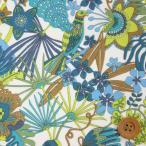 ショッピングプリント リバティプリント タナローン687『Tropical Trails トロピカル・トレイルズ』ブルー&グリーン(18-3638147/18BT)