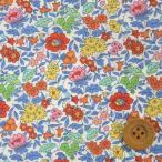 ショッピングプリント リバティプリント タナローン691『Favorite Flowers フェイバリット・フラワーズ』レッド&ブルー(18-3638152/18AT)