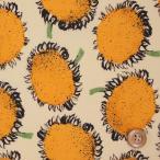 ショッピングプリント リバティプリント タナローン『Baby Bloom ベビー・ブルーム』オレンジ/生成地(99-3639101/99AT)