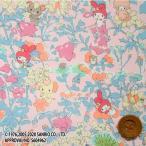 マイメロディ × リバティプリント タナローン『Melody's Party メロディーズ・パーティー』ピンク&ライトブルー(ピンク地)(DC30716/J20C)