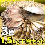 送料無料!どっさり1.5kg!日本海の干物詰め込み3種類セット(ハタハタ・カレイ・アジ)[冷凍]