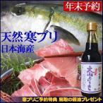 [年末予約] 送料無料 日本海産 寒ブリ(天然ブリ)[生] 1匹(10kg前後) (梱包サイズにより尾をカットして発送)鳥取の醤油(大山むらさき)1本プレゼント