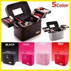 ショッピングBOX 大容量5色選択可 メイクボックス コスメボックス 化粧台収納鏡付き軽量持ち運びPUレザー防水 メイクBOX 化粧箱