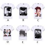 送料無料 レディース メンズ 半袖Tシャツ BIGBANG GD 応援服  カジュアル クールネック  ビッグバン 韓流グッズ TOP G-Dragon 6色