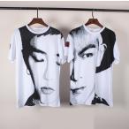 送料無料 半袖Tシャツ BIGBANG GD メンズ レディース カジュアル 激安 人気 クールネック  ビッグバン 韓流グッズ TOP G-Dragon 5色