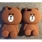 送料無料 iPhone7 カバー iPhone6/6s/6s plus キャラクター シリコン ブラウンクマ iPhone7ケース 可愛い アニマル クマちゃん  iPhone5