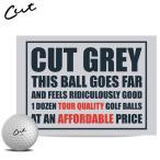 カット グレー ゴルフボール CUT GOLF GREY 1ダース12P USAモデル