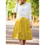 ギャラリービスコンティ / タフタ フラワー刺繍飾り スカート