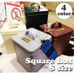 C227 Square Box S スクエアボックスS/マーキュリーmercuryおもちゃ箱ふた蓋フタ付きゴミ箱収納雑貨