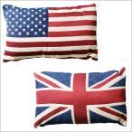 2K-351 クッションピロー/国旗星条旗ユニオンジャックイギリスアメリカ
