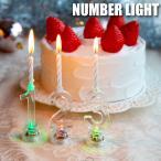 ナンバーライト [2L-200] ■ ろうそく 誕生日 数字 ケーキ用 led キャンドル ロウソク ケーキトッパー バースデーキャンドル