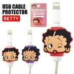USBケーブルプロテクター(ベティ) ■ BETTY ベティー 充電ケーブル 保護 カバー 断線 キャラクター BETYY BOOP アメリカン