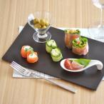 長角皿 平皿 黒マット EASTオリジナル フラットプレート 29cm アウトレット 黒い食器 おもてなし食器 スクエア オードブル皿 美濃焼 和食器