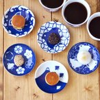 和食器 千鳥づくし 青 3寸皿 アウトレット込み 和皿 小皿 醤油皿 お皿 こざら 和食器 お菓子皿 おめでたい柄 おもてなし 日本製 美濃焼