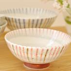 刷毛巻十草 赤 丸型ご飯茶碗 11.5cm 和食器 和柄 和風 茶碗 お茶碗 夫婦茶碗 飯碗 おちゃわん