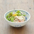 小鉢 軽量磁器 藍つづり 四寸小鉢 花 フラワー  和柄 花柄 鉢 藍 サラダボウル 軽量食器 取り皿 染付 軽 取り鉢