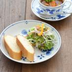 取り皿 軽量磁器 藍つづり 五寸皿 花  フラワー 和柄 花柄 藍 プレート 軽量食器 取り皿 染付 ケーキ皿