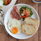 EAST限定 クレール clair ホワイトプレート 23cm L シンプル 白い食器 お皿 ディナー皿 ランチプレート パスタ皿 カレー皿 大皿 洋食器 皿