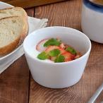 EAST限定 クレール clair ホワイト 台形シリアルボウル シンプル 白い食器 小鉢 デザートカップ サラダボウル 洋食器 スープボウル