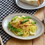 ショッピング皿 楕円皿 赤土ベージュ ドット オーバルプレート 24cm パスタ皿 中皿 楕円皿 お皿 サラダ皿 和食器 カフェ食器 おしゃれ かわいい 日本製 美濃焼