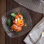 ガラス製 スクエア小皿 (アウトレット)角皿 ガラス食器 お皿 ガラスのお皿 取り皿 パーティー食器