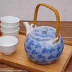 土瓶 ダミ草花(茶こしつき)和食器 急須 茶器 つる付き 大容量 業務用