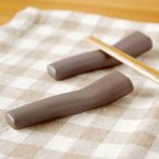 99円!バチ形 マットブラウン 箸置き カトラリーレスト    はしおき 箸おき シンプル 激安 和食器 ナチュラル雑貨