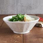 粉引 しのぎ刷毛目 6.3ラーメンどんぶり 19.7cm     丼ぶり 丼 和食器 ボウル 麺鉢 ラーメン鉢