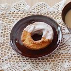 EASTオリジナル 和カフェスタイル たたきプレート 16cm アメ色 アウトレット込み   ケーキ皿 取り皿 おうちカフェ食器 丸皿 アメ色食器 和食器