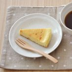 EASTオリジナル 和カフェスタイル たたきプレート 16cm 粉引 アウトレット込み    ケーキ皿 取り皿 おうちカフェ食器 丸皿 ナチュラル 和食器
