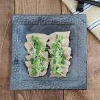 和食器 正角皿 フォルテシリーズ 和皿 黒い食器 スクエア プレート 盛皿 おもてなし食器 シンプル クール おしゃれ 日本製 美濃焼 和モダン