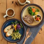 Yahoo!テーブルウェア イースト渕十草 大皿 デリスタイル minoruba パスタ皿 ディナープレート サラダ皿 デザートプレート 渋い和食器 お皿 和皿 シンプル 和モダン おしゃれ
