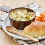 持ち手付きミニグラタン アメ色 オーブンOK! アウトレット     オーブンウェア カフェ食器 ココット アメ色食器 耐熱 離乳食食器 ベビー食器