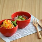 ボウル 赤色 丸碗 10.5cm 赤 アウトレット 洋食器 ボウル 美濃焼 緑 お碗 茶碗 和食器 小鉢 おうちごはん シンプル 女性用