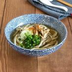 大きめ麺鉢。盛り鉢としても使える定番たこ唐草模様。日本製